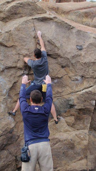 "Rock Climbing Photo: ""Masterlock"" on the Borson's Wall"