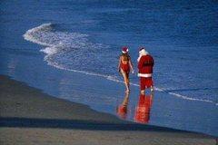 Rock Climbing Photo: Santa has the right idea.