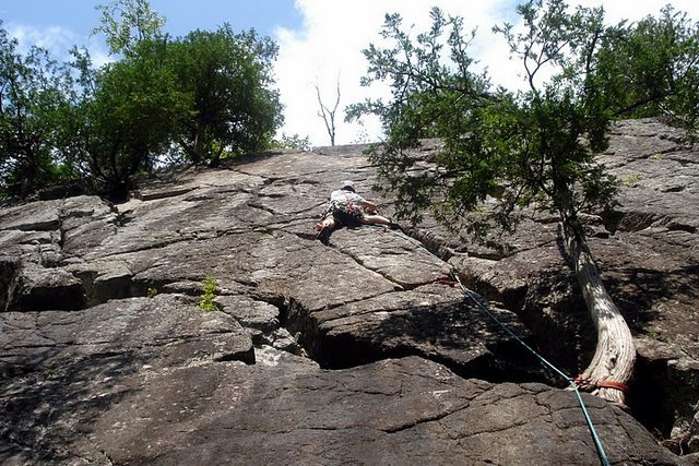 Rock Climbing Photo: Danny G on Jump Bat Crack. Aug 09