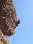 Rock Climbing Photo: Riding the exciting arete of Mirror of Erised.
