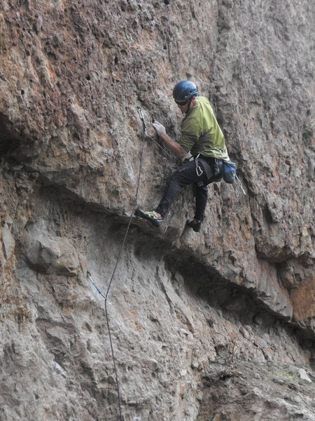 """Rock Climbing Photo: Pulling over the roof of """"Intellitoys."""""""