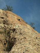 Rock Climbing Photo: Climber on sweet edges, 2nd pitch of Harvey, where...