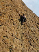 "Rock Climbing Photo: Leader enjoying a sunny afternoon on ""English..."