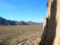 Rock Climbing Photo: Reaching on 'Cakewalk'