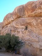 Rock Climbing Photo: Bobby keeping his head in check on the runout port...