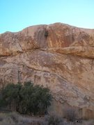 Rock Climbing Photo: Bobby in the fun, upper dihedral of 'Boulder Dash'...