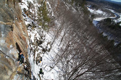 Rock Climbing Photo: kevin on underdog and the baker river valley...