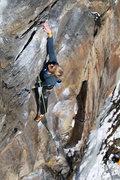 Rock Climbing Photo: kevin making the reach... dont worry he's tough he...