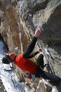 Rock Climbing Photo: otey crimpin' getting ready for the slopers
