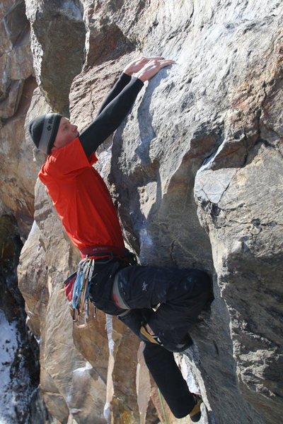 otey finishing a lap on peanut man, one of his favorite routes at rumney
