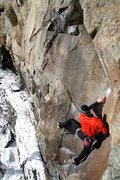 Rock Climbing Photo: otey poised to make the move left... trust that fo...