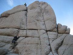 Rock Climbing Photo: Getting established on Wild Wind