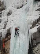 Rock Climbing Photo: Saddam Insane at Booth, Carl Pluim climbing, 12/11...