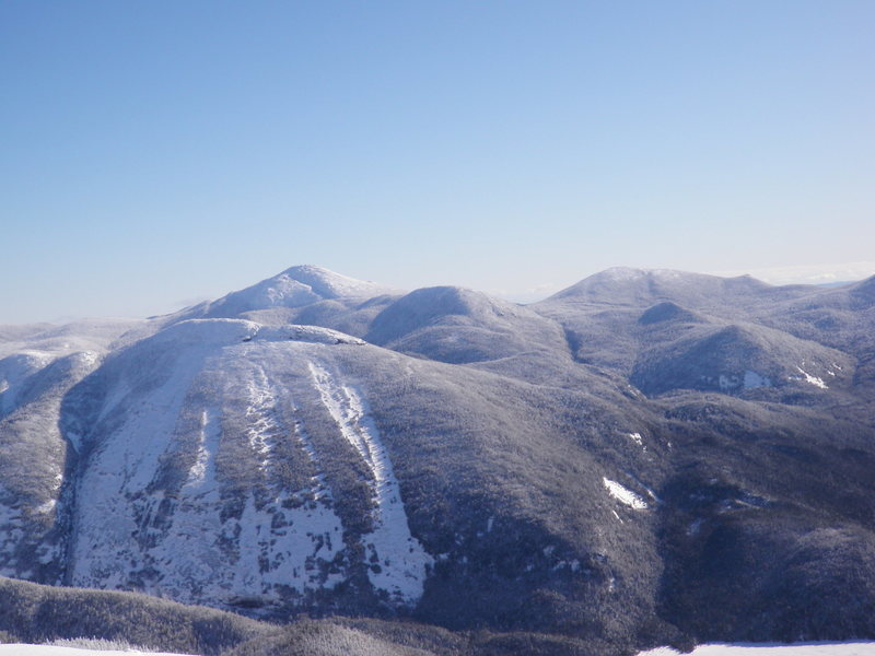 Mt Colden from Algonquin Summit.  Mt Marcy in the background, Skylight to the right in the background.