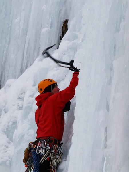 Rock Climbing Photo: Sunny-D on lead