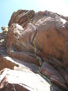Rock Climbing Photo: Another shot of the 5.8 start.  A one-move wonder,...