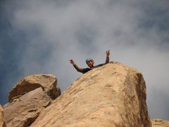 Rock Climbing Photo: Hello from the Sundeck at the top of Bush Driver