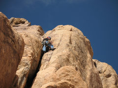 Rock Climbing Photo: above the chimney on Squeeze Pull and Yank