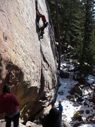 Rock Climbing Photo: Zack cranking the gloved send of Rincon!