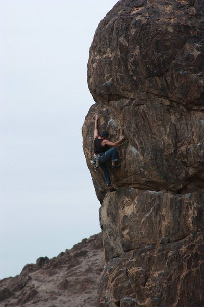 Rock Climbing Photo: Pulling the crux over the last bulge on Dance for ...