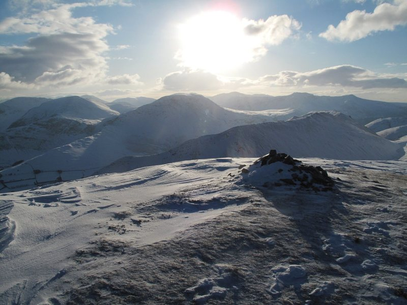 Summit of Causey Pike Jan.2010. Photo John Porter