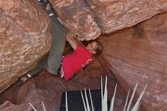 Rock Climbing Photo: In the invert