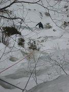 "Rock Climbing Photo: Matt startin' the cleanup on isle ""Coal as Ic..."