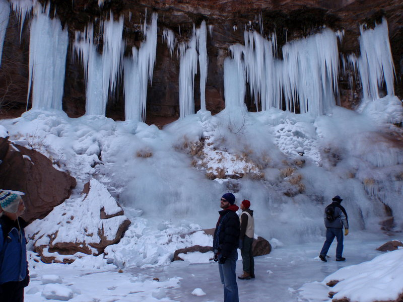 Rock Climbing Photo: In Moab's Ice Park