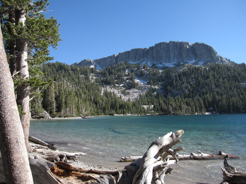 Rock Climbing Photo: Mammoth Crest from the northeastern shore of McLeo...