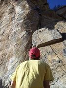 Rock Climbing Photo: Haag on belay