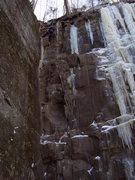 Rock Climbing Photo: Very fun mixed route.
