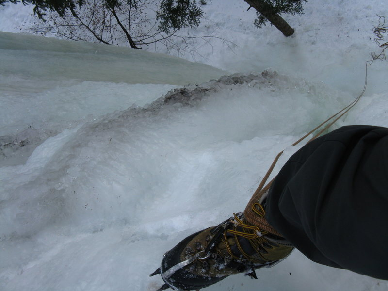 Rock Climbing Photo: Cave Ice is looking good