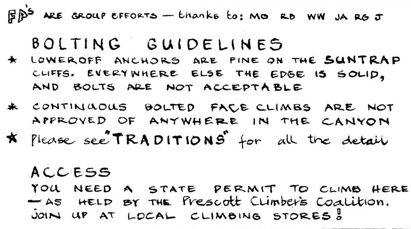 lol these are the old 'bolting guidelines' for the cliff