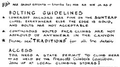 Rock Climbing Photo: lol these are the old 'bolting guidelines' for the...