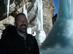 Rock Climbing Photo: Chris Gebhart behind Stone Free with The Ice Palac...