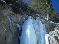 Rock Climbing Photo: Where did the ice go!? Better get out my trowel. T...