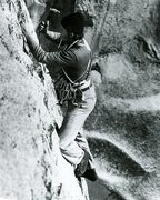 Rock Climbing Photo: Ivan Couch drilling on the first ascent, pitch 1.