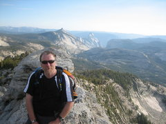 Rock Climbing Photo: Me on top of Tenaya with Half Dome in the backgrou...