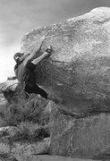 "Rock Climbing Photo: Frankie Santos on ""Vassal Lean' AKA ""Bub..."