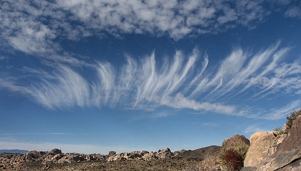 Cool clouds over the Wonderland of Rocks.<br> Photo by Blitzo.