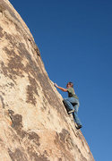 "Rock Climbing Photo: Blitzo soloing on the upper section of ""Gotch..."
