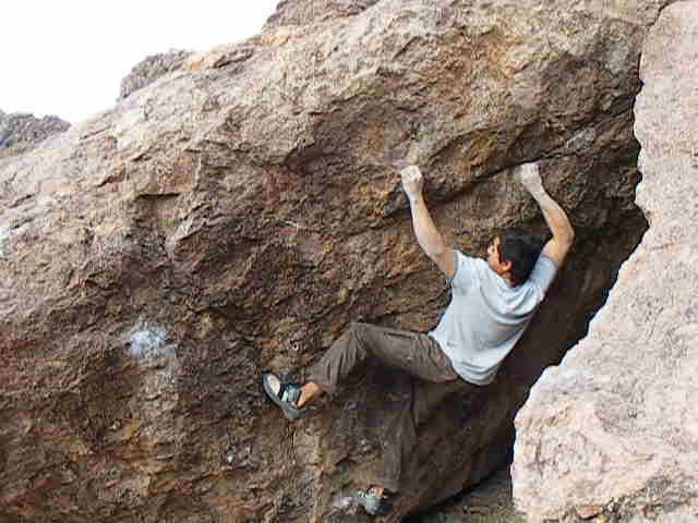 Rock Climbing Photo: Guy (V4), Silverbell, Az