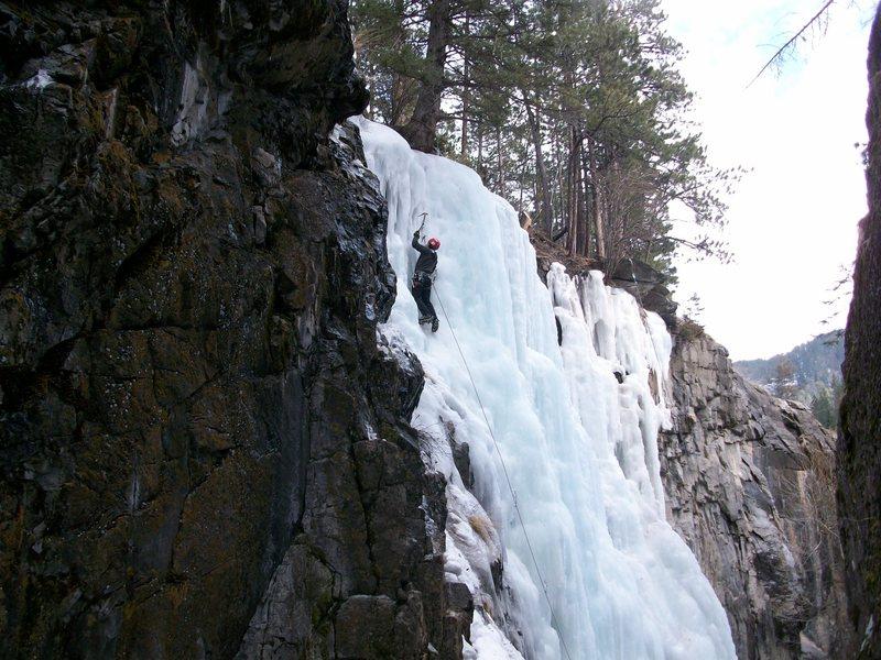 Rock Climbing Photo: Climber on 11th Hour
