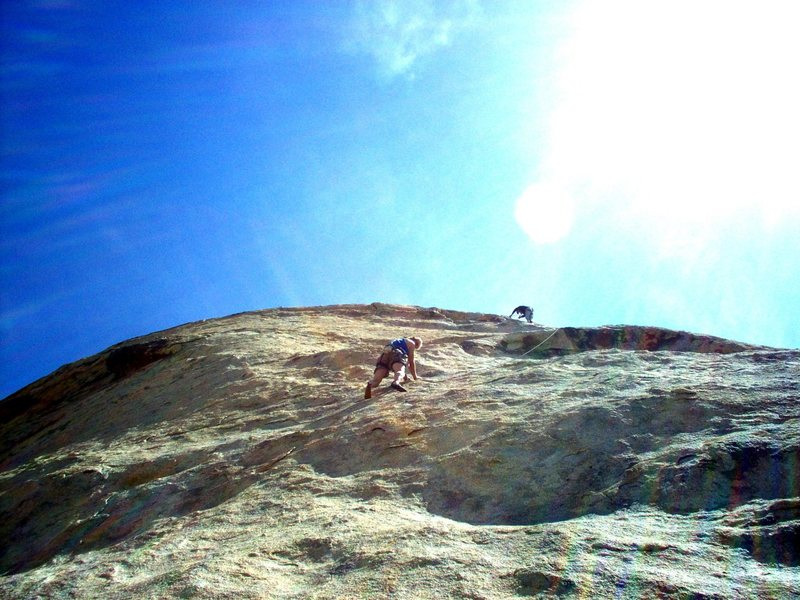 Rock Climbing Photo: Jeff Sewell on first pitch, Winter 2009.