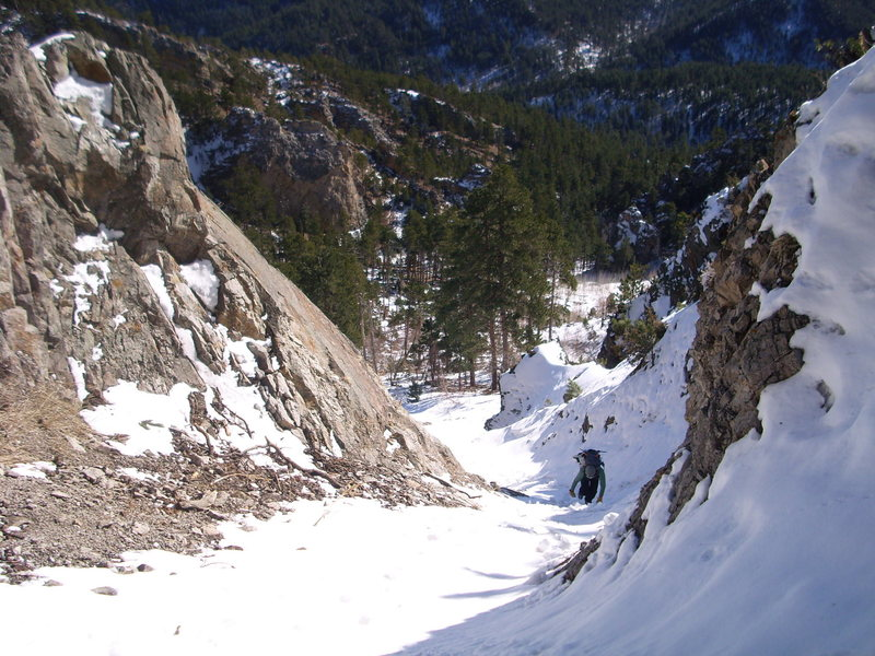 Gully leading up to the Main flow