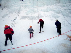 Rock Climbing Photo: Children and instructors getting after it at the k...