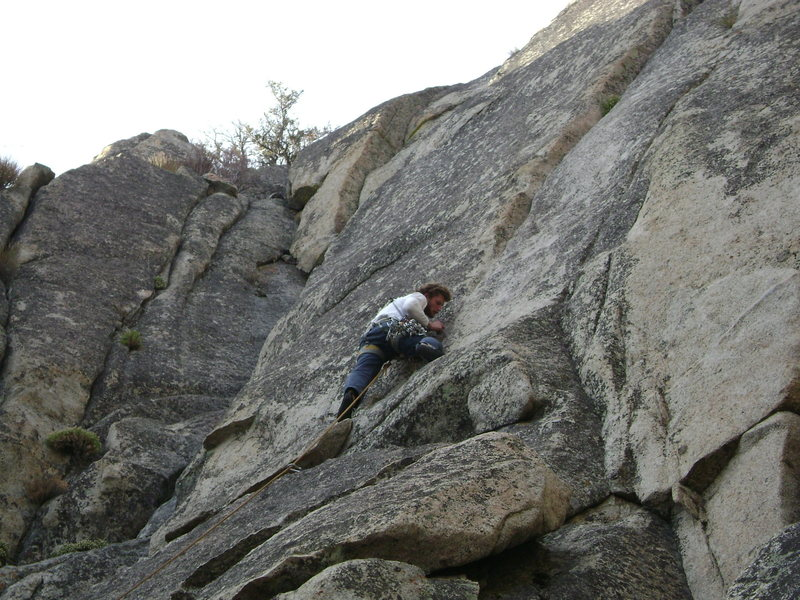 Fiddling in small gear from a stance after cruising up the initial slab.