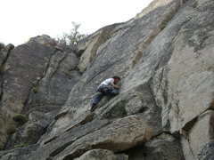 Rock Climbing Photo: Fiddling in small gear from a stance after cruisin...