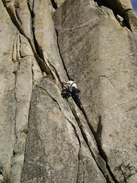 Rock Climbing Photo: Nick sending I Be Jammin'. 2nd Alcove, Woodfords.