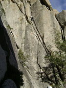 Rock Climbing Photo: Cruising high on I Be Jammin'.
